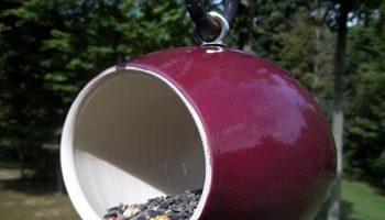 modern bird feeder