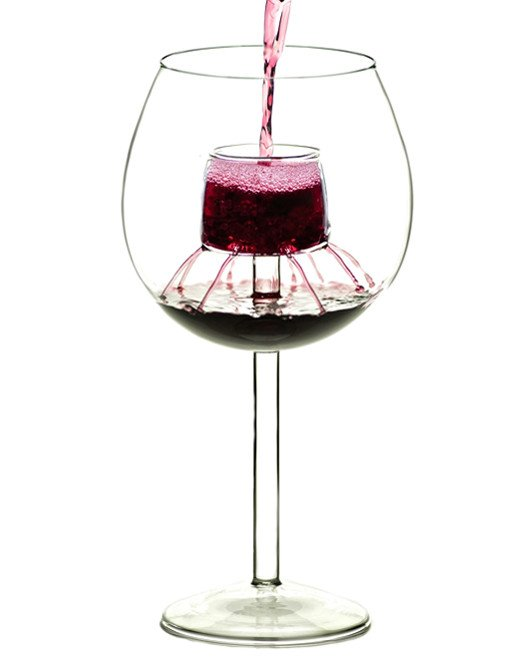 modern wine glass