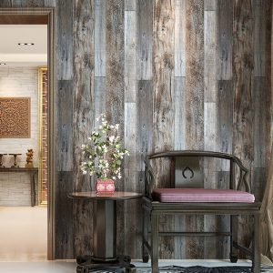 faux wood look modern wallpaper