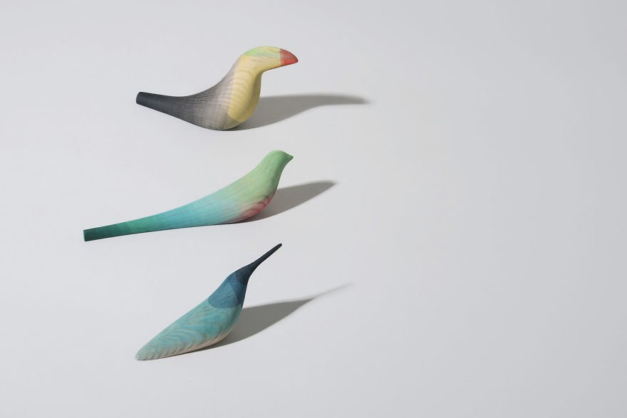Minimalist Wooden Birds – Dipped in Color