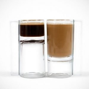 cup upside down coffee glass and shot glass