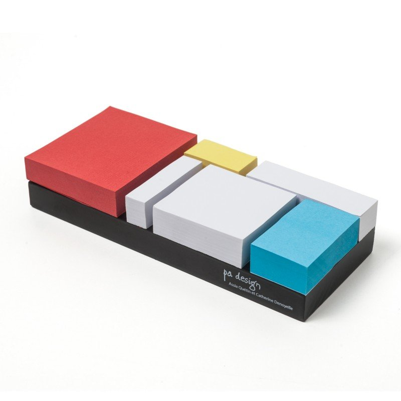 Mondrian Comes Back To Life … As Sticky Notes!