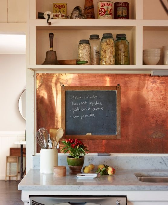 Kitchen Backsplash - Copper