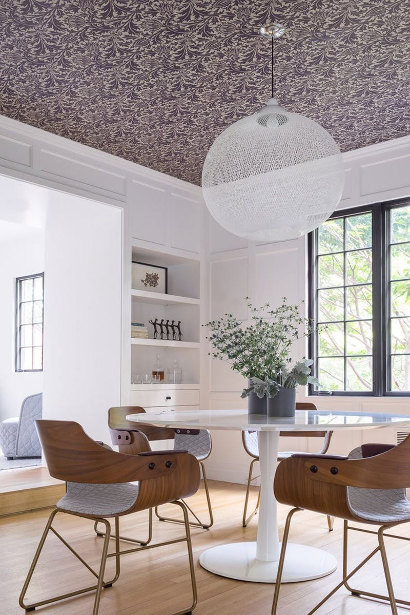 Looking Up For Inspiration: Unique Modern Wallpaper on ceilings
