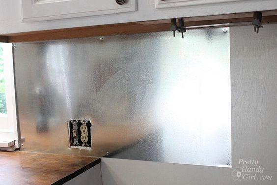 steel kitchen backsplash