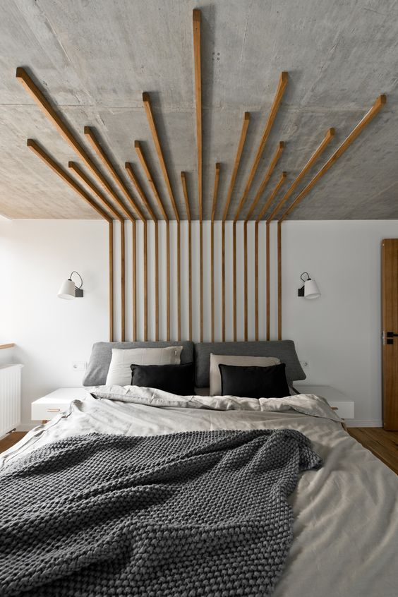 abstract unique headboards modern bedroom design padstyle.com